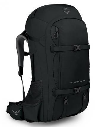 Mens backpack Osprey FARPOINT TREK 55L Black 55L