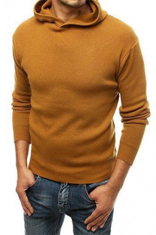 Mens camel hooded sweater WX1467 pánské Neurčeno M