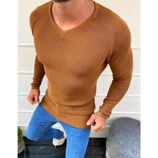 Mens camel slipped-over sweater WX1644 pánské Neurčeno XL