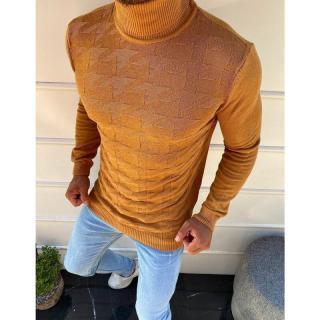 Mens camel turtleneck sweater WX1581 pánské Neurčeno XL
