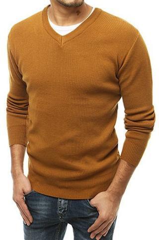 Mens camel v-neck sweater WX1545 pánské Neurčeno XXL