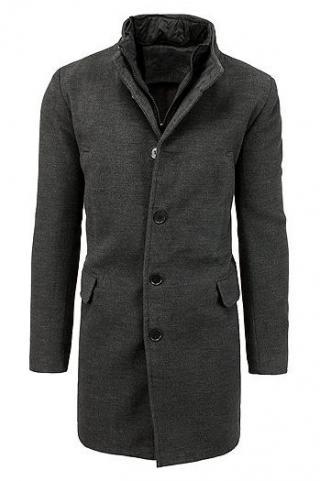 Mens single-breasted winter coat dark gray CX0413 pánské Neurčeno M