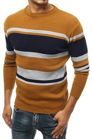 Mens sweater, slipped over the head, camel WX1491 pánské Neurčeno M