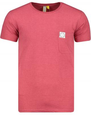 Mens T-shirt  Alife and Kickin Logo Pocket pánské Cranberry S