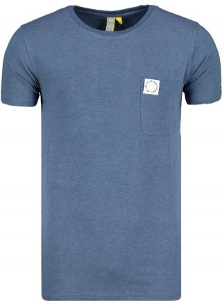 Mens T-shirt  Alife and Kickin Logo Pocket pánské Indigo S