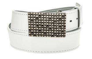 Mens white leather belt HX0001 pánské Neurčeno 95