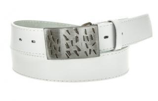 Mens white leather belt HX0005 pánské Neurčeno 100