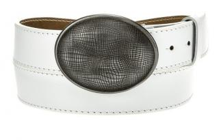 Mens white leather belt HX0006 pánské Neurčeno 95