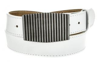 Mens white leather belt HX0010 pánské Neurčeno 105