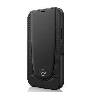 Mercedes Perforated flipové pouzdro MEFLBKP12MARMBK Apple iPhone 12/12 Pro black