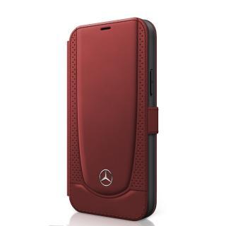 Mercedes Perforated flipové pouzdro MEFLBKP12MARMRE Apple iPhone 12/12 Pro red