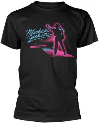 Michael Jackson Neon T-Shirt XL pánské Black XL