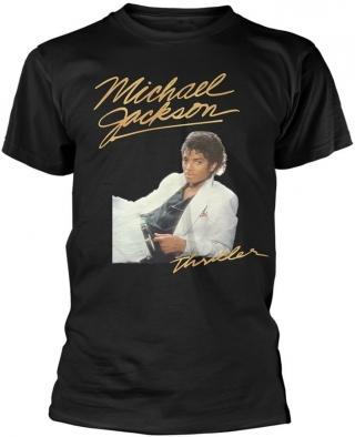 Michael Jackson Thriller White Suit T-Shirt XL pánské Black XL