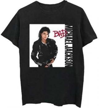 Michael Jackson Unisex Tee Bad Black L L