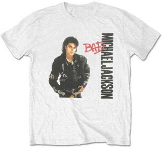 Michael Jackson Unisex Tee Bad White XXL 2XL