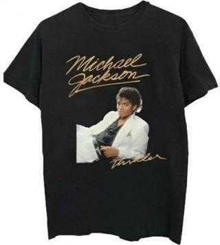 Michael Jackson Unisex Tee Thriller White Suit XL Black XL