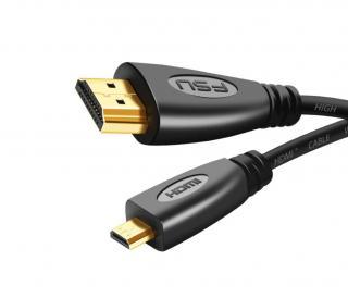 Micro HDMI na HDMI propojovací kabel M/M 3 m