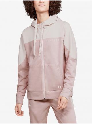 Mikina Under Armour Recover Knit FZ Hoodie - růžová dámské L