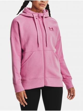 Mikina Under Armour Rival Fleece FZ Hoodie - růžová dámské XL