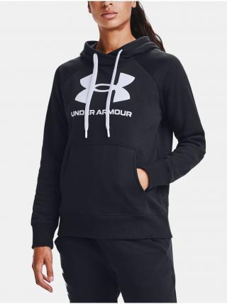 Mikina Under Armour Rival Fleece Logo Hoodie - černá dámské XL