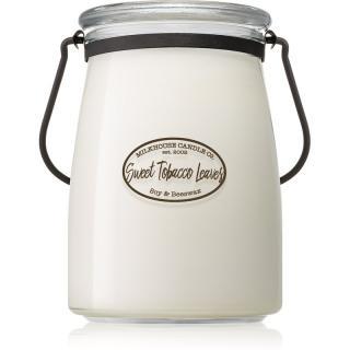 Milkhouse Candle Co. Creamery Sweet Tobacco Leaves vonná svíčka Butter Jar 624 g 624 g