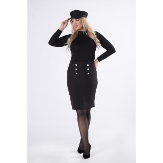mini pencil skirt with decorative buttons dámské Neurčeno S