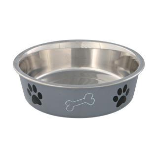 Miska nerezová pro psy trixie s plastovým povrchem 21cm*1400ml