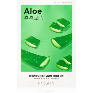 Missha Airy Fit Aloe plátýnková maska s hydratačním a zklidňujícím účinkem 19 g dámské 19 g