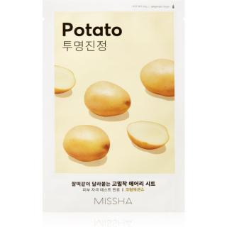 Missha Airy Fit Potato vyhlazující plátýnková maska pro rozjasnění pleti 19 g dámské 19 g