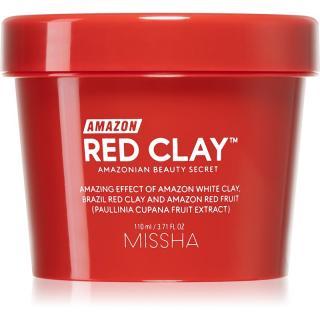 Missha Amazon Red Clay™ čisticí maska pro redukci kožního mazu a minimalizaci pórů s jílem 110 ml dámské 110 ml