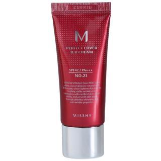 Missha M Perfect Cover BB krém s velmi vysokou UV ochranou malé balení odstín No. 21 Light Beige SPF 42/PA    20 ml dámské 20 ml