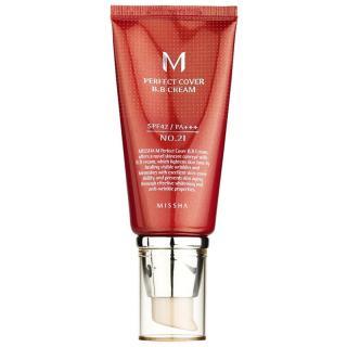Missha M Perfect Cover BB krém s vysokou UV ochranou odstín No. 21 Light Beige SPF42/PA    50 ml dámské 50 ml