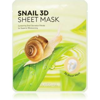 Missha Snail plátýnková maska s čisticím a osvěžujícím účinkem se šnečím extraktem 23 g dámské 23 g