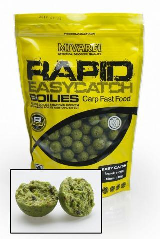 Mivardi boilie rapid easy catch 950 g 20 mm-česnek & chilli
