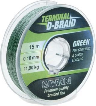 Mivardi Terminal D-Braid Green 0,16 mm 15 m
