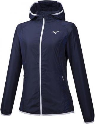 Mizuno Printed Hoodie Jacket Dazzling Blue S dámské S