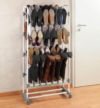 Mobilní stojan na boty adonis