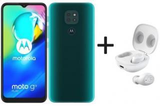 Mobilní telefon motorola g9 play 4gb/64gb, zelená   motobuds