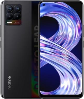 Mobilní telefon realme 8 4gb/64gb, matná černá