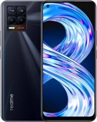 Mobilní telefon realme 8 6gb/128gb, lesklá černá