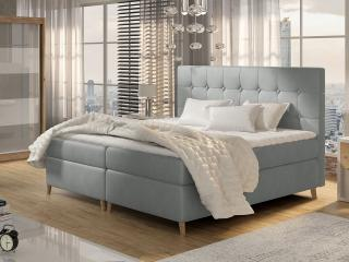Moderní box spring postel Ariel 180x200, šedá