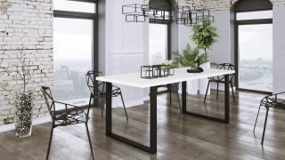 Moderní jídelní stůl Barbora 138x67cm, bílý