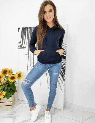 MODIVOS womens sweatshirt navy BY0579 dámské Neurčeno L