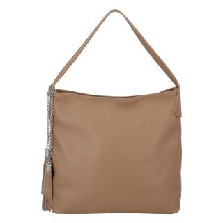 Módní kožená kabelka přes rameno camel - ItalY Georgine dámské