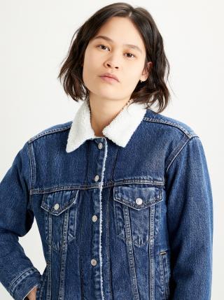 Modrá dámská džínová bunda s umělým kožíškem Levis® dámské S