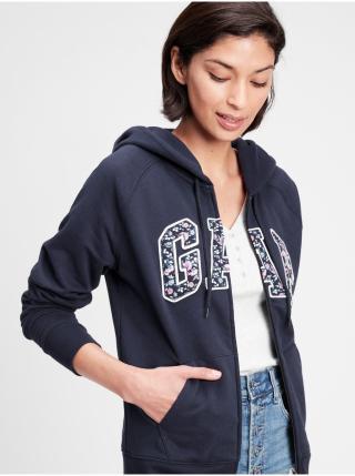 Modrá dámská mikina GAP Logo GAP Logo v clsc fz hd novelty fill dámské L