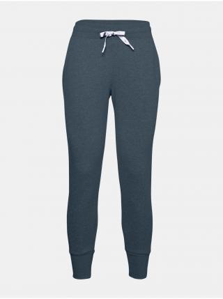 Modré kalhoty Under Armour UA Rival Fleece EMB Pant dámské modrá S