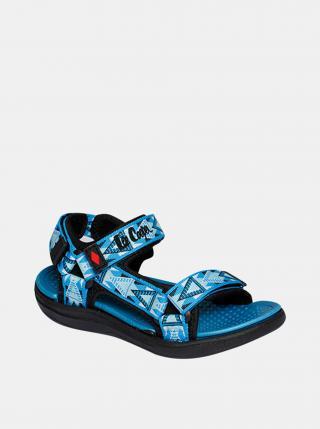 Modré klučičí vzorované sandály Lee Cooper modrá 28