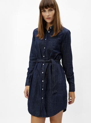 Modré košilové šaty s páskem Jacqueline de Yong Esra dámské modrá M