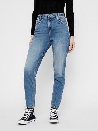 Modré mom fit džíny Pieces Leah dámské modrá L